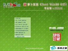 <font color='#339900'>萝卜家园免激活win10 64位经典大师版v2021.11</font>